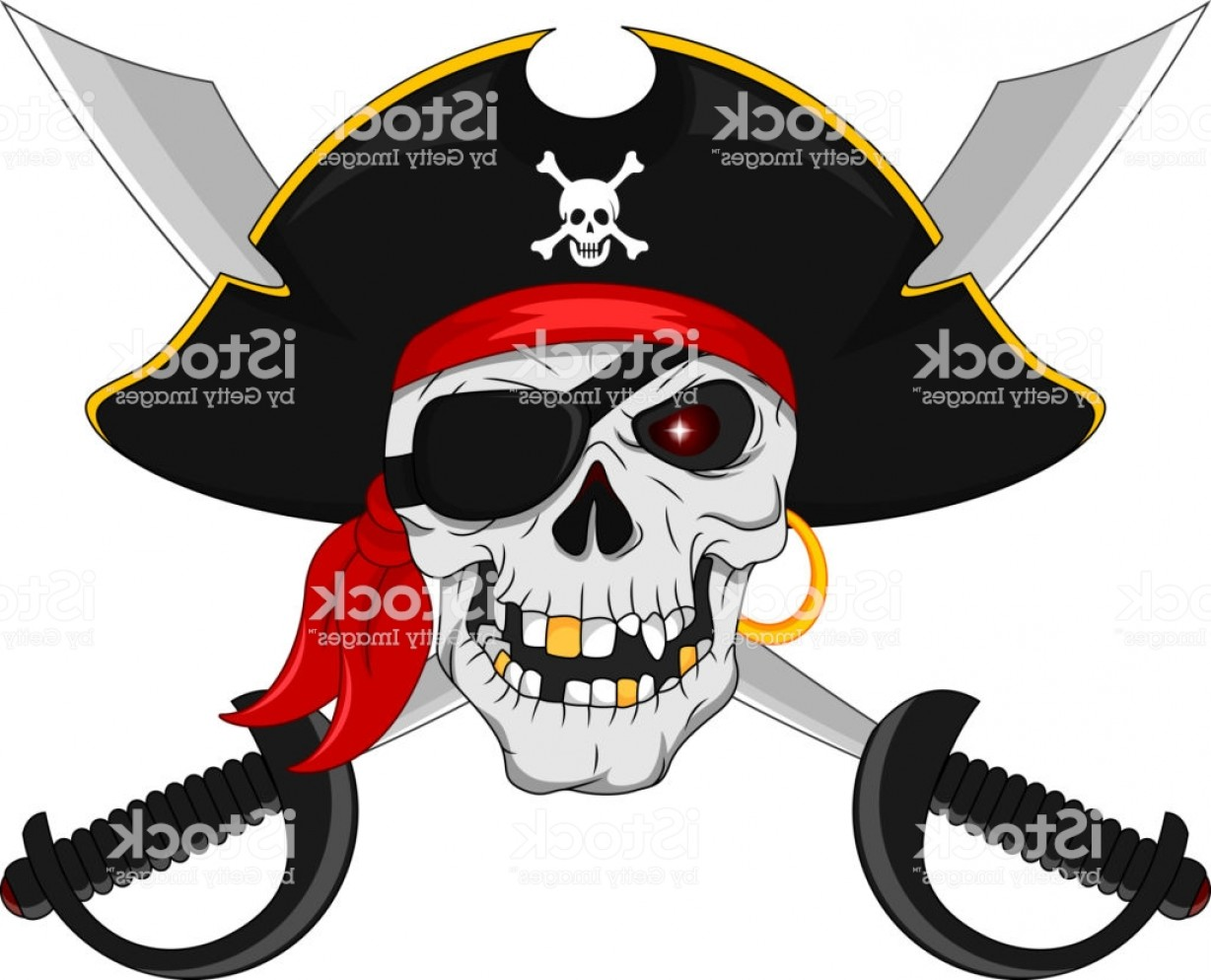 Pirate Swords Crossed Vectors: Pirate Skull And Crossed Swords Gm