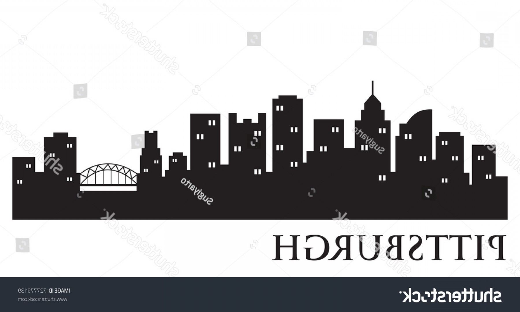 Pittsburgh City Skyline Vector: Pittsburgh City Skyline Logo Template