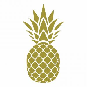 Pineapple Vector Gold: Pia Png Transparent Background Printable Pineapple Black And
