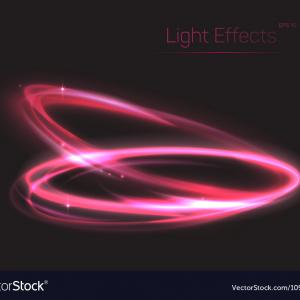 Vector Plasma Fly Light 1: Pink Neon Ovals Or Circles For Light Effect Vector