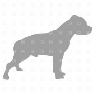 Pit Silhouette Vector: Pit Bull Terrier Silhouette Vector Clipart