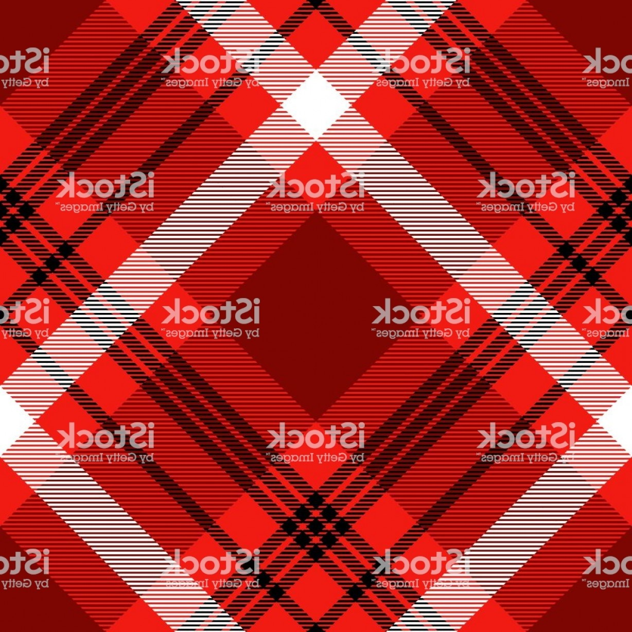 Red Black And White Vector Art: Plaid Pattern In Red Burgundy Black And White Gm