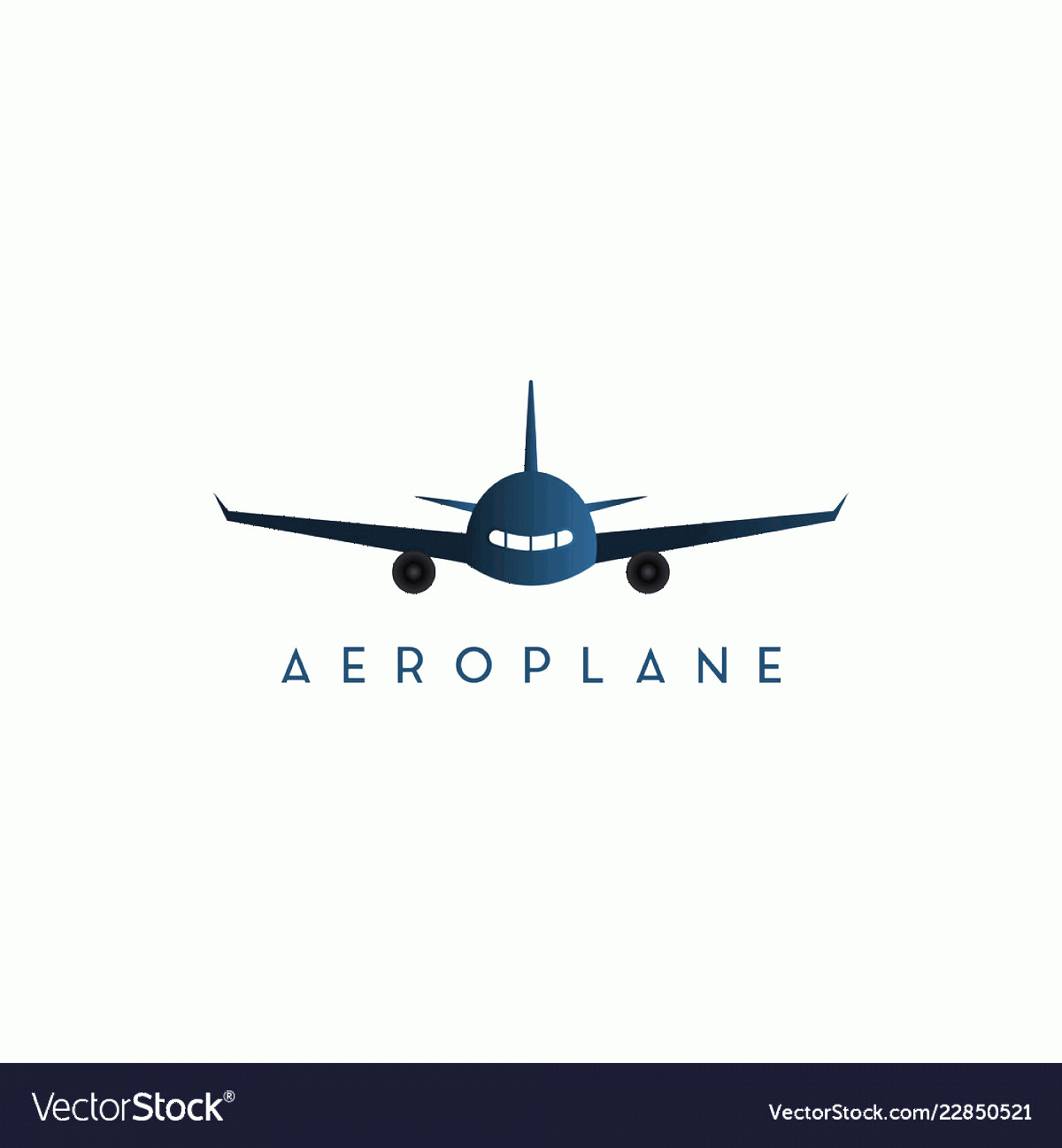 Aviation Vector Designs: Plane Front Side Graphic Design Template Vector