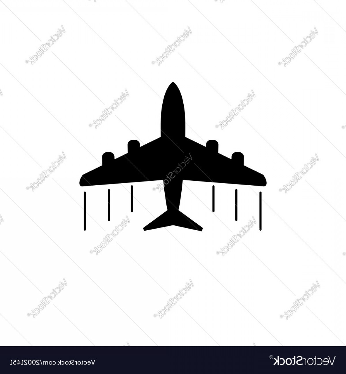 Vector Airplane Symbol: Plane Icon Airplane Flat Vector
