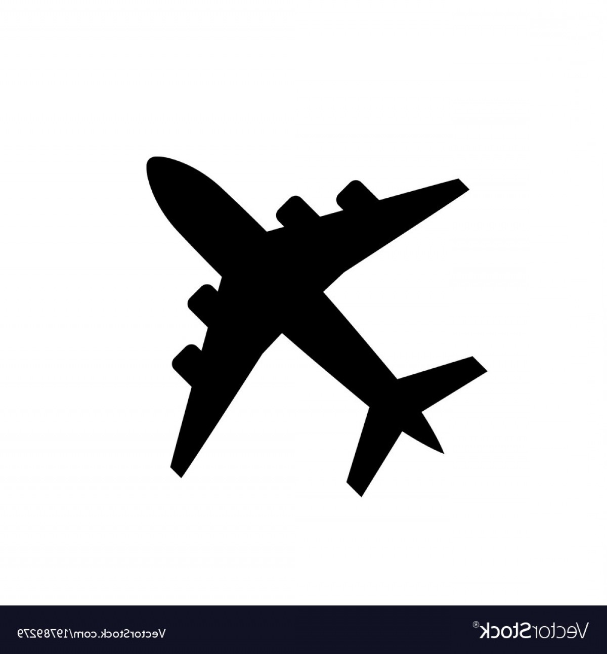 Vector Airplane Symbol: Plane Icon Airplane Symbol In Flat Style Vector