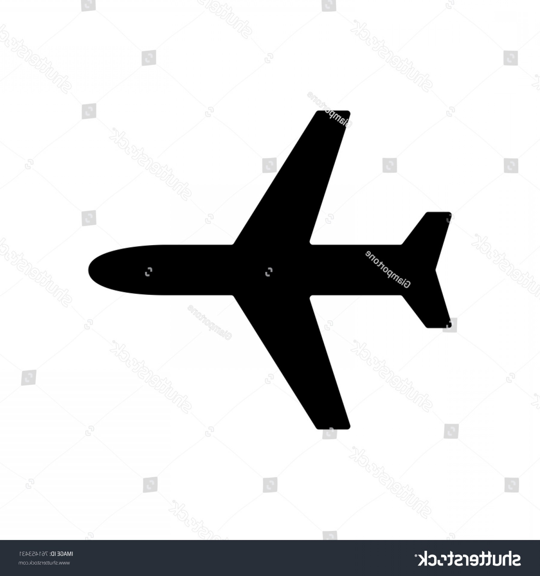 Vector Airplane Symbol: Plane Icon Vector Flight Symbol Solid