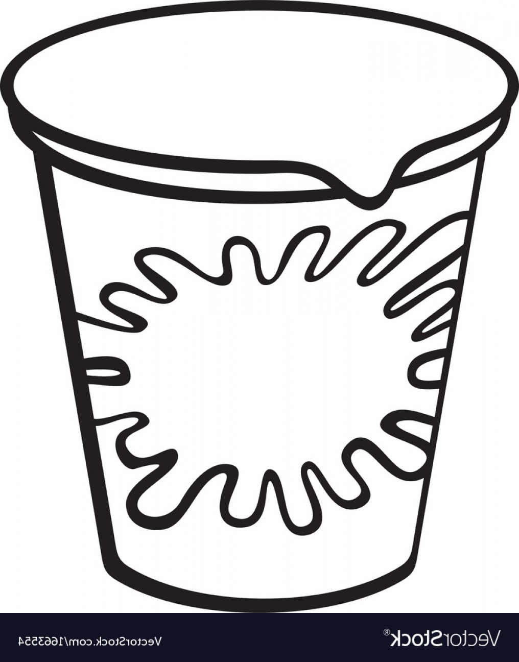 Yogurt Vector: Plastic Container For Yogurt Vector