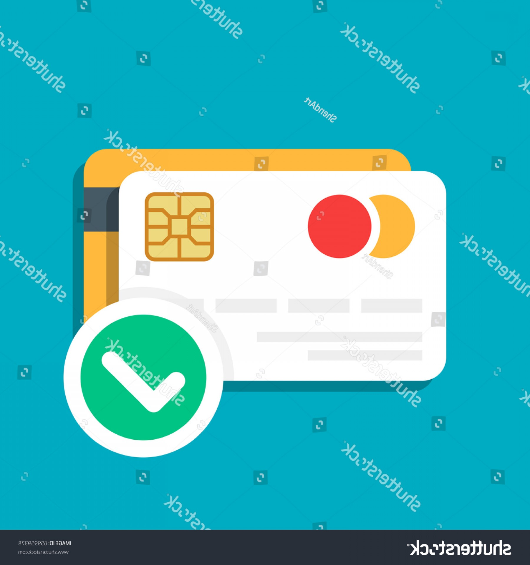Vector One Debit Check: Plastic Debit Credit Card Payment Approved