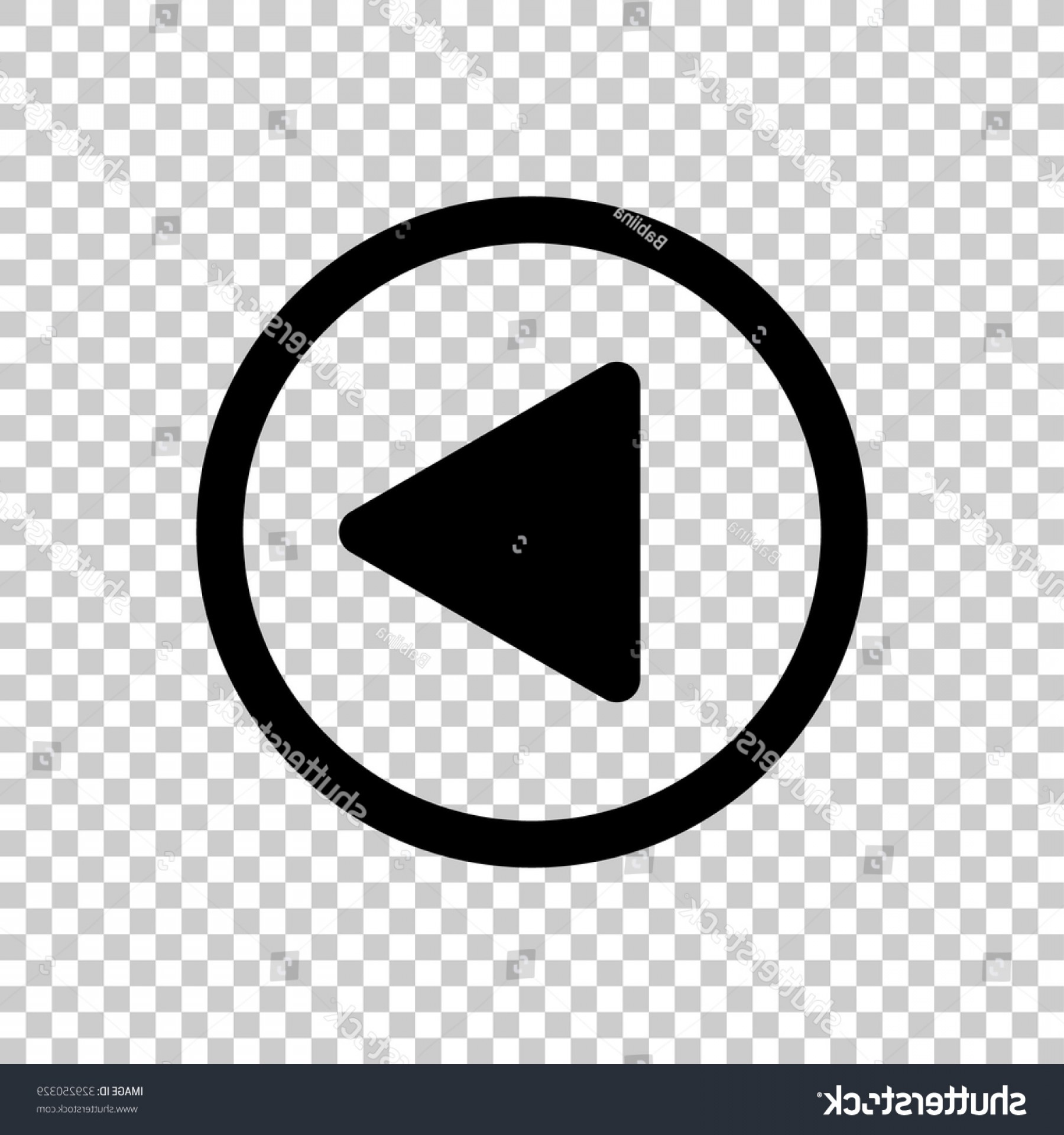 Button Icon Vector: Play Button Vector Icon Black Illustration