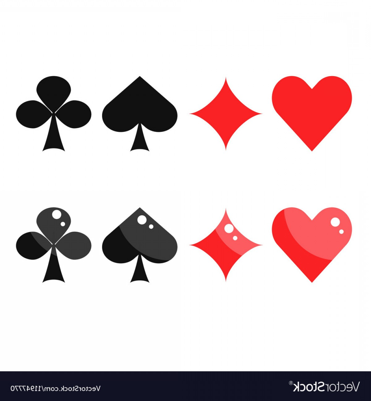 Heart Card Vector: Playing Card Suits Spades Hearts Diamonds And Vector