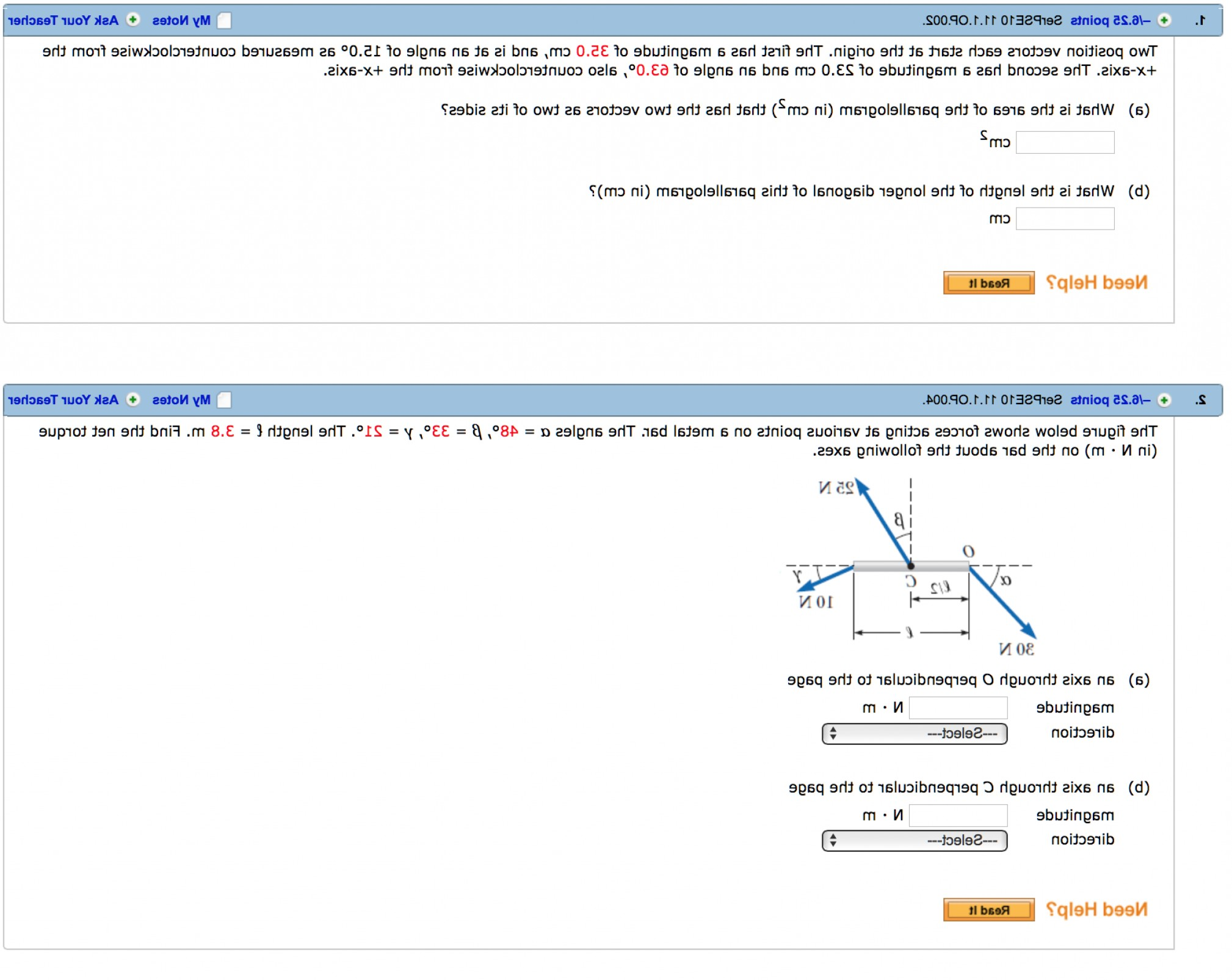 Position Vector In Physics: Please Help Me With These Following Physics I Questions Thank You