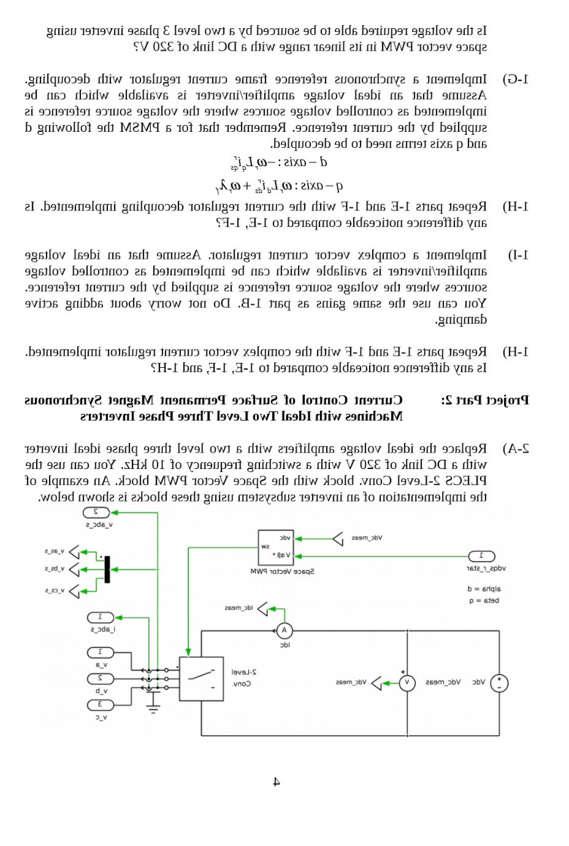 Space Vector PWM: Please Refer To The Attachment To Answer This Question This Question