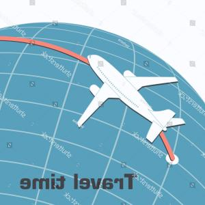 Plane Vector Direction: Plane Flies Over Earth According Direction