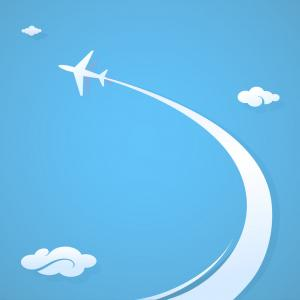 Airplane Travel Vectors: Airplane Flying Around The Globe Vector