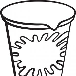 Yogurt Vector: White Plastic Container For Yogurt Vector