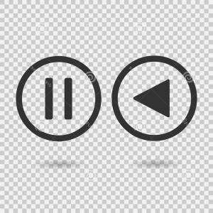 Flat Design Vector Button Play Pause | CreateMePink