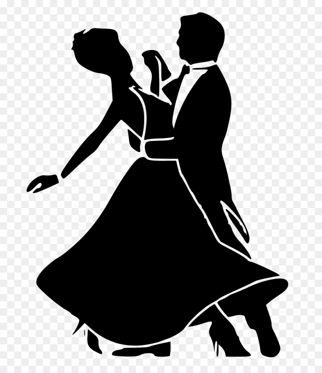 Vector Swing Dancers: Png Ballroom Dance Social Dance Waltz Black And White