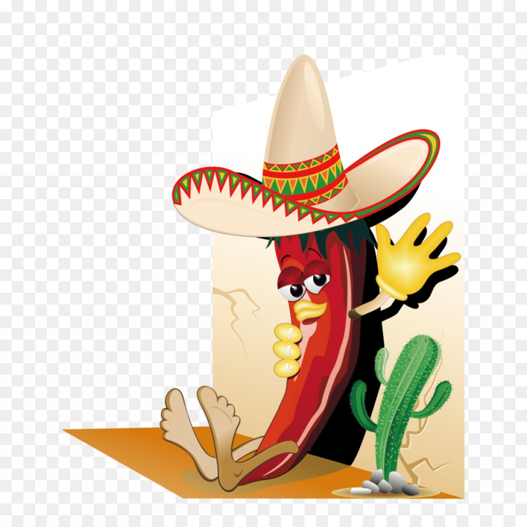 Sombrero Hat Vector: Png Bell Pepper Chili Con Carne Mexican Cuisine Chili