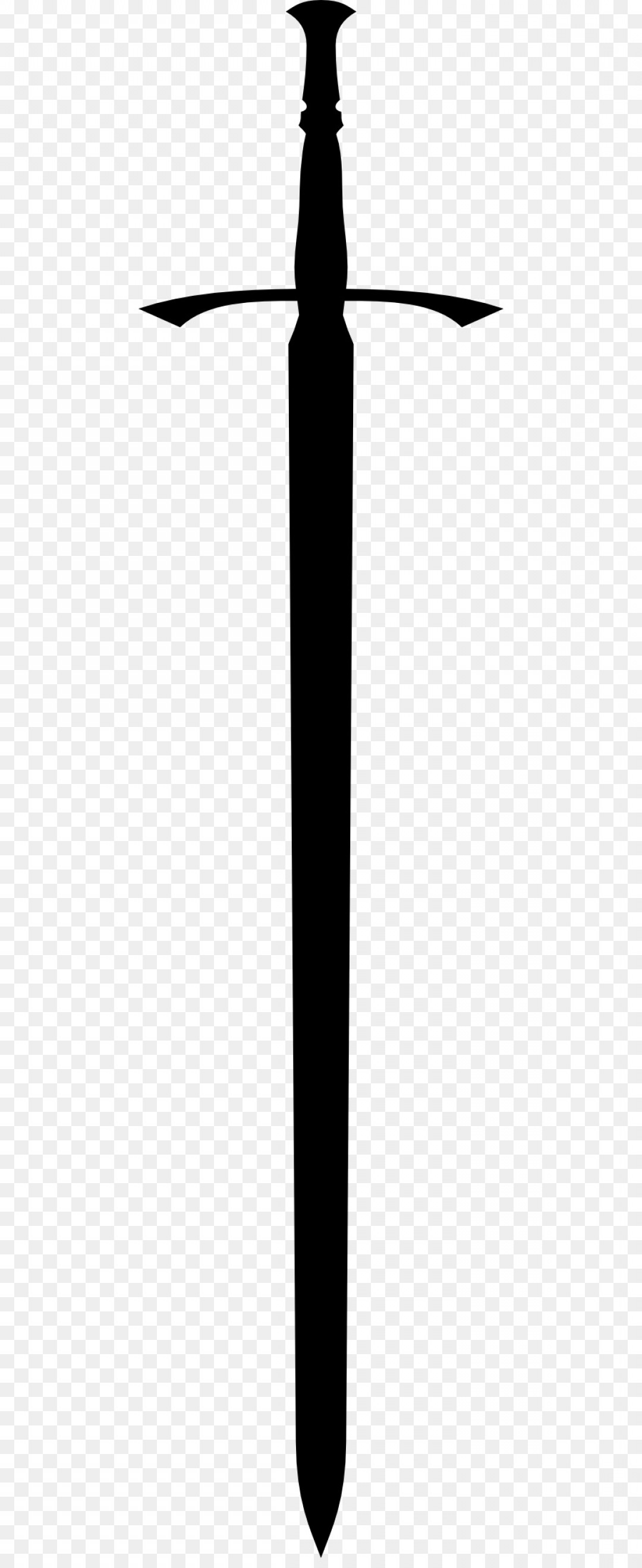 Game Of Thrones Sword Silhouette Vector: Png Black And White Sword Structure Angle Font Free Sw