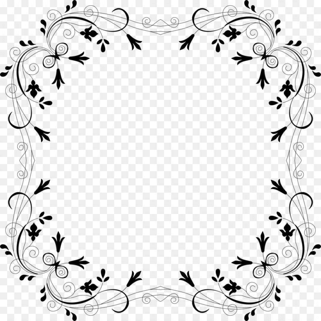Vector Boarders Clip: Png Borders And Frames Flower Rose Clip Art Vector Bor