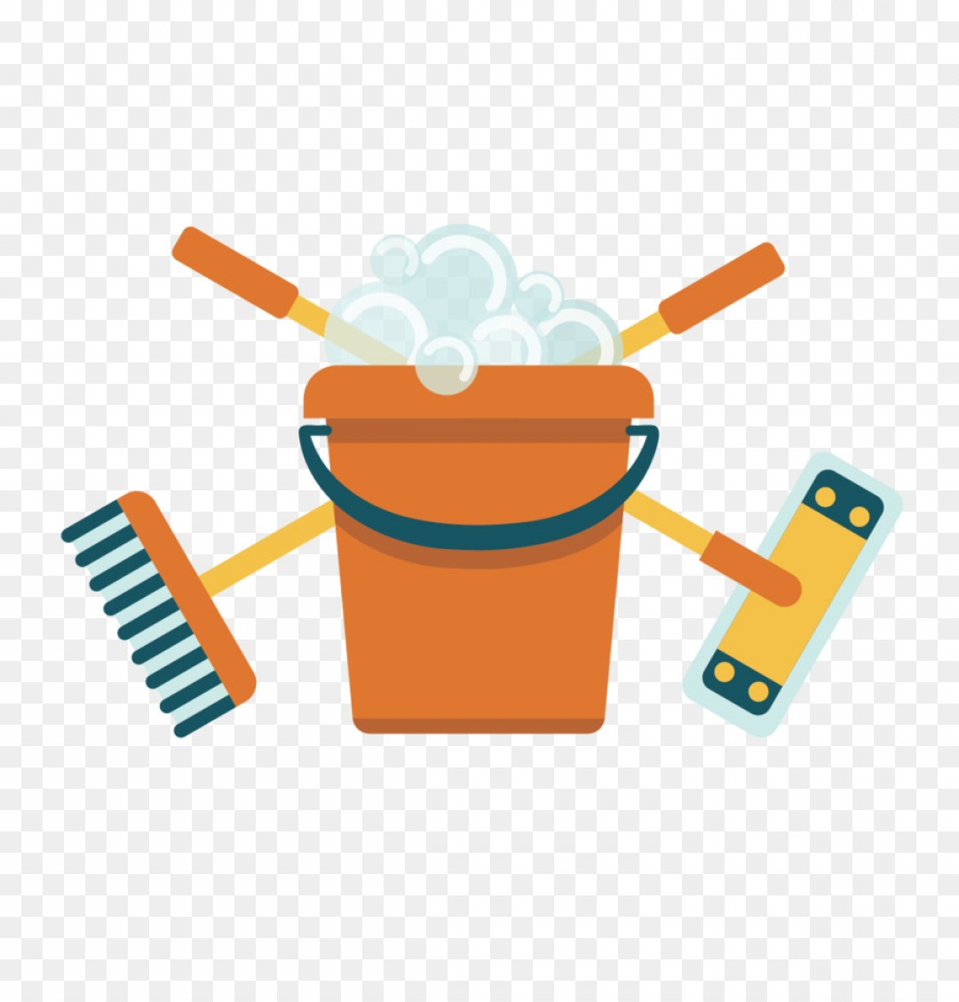Mop And Bucket Clip Art Vector: Png Broom Mop Bucket Vector Broom Mop Bucket