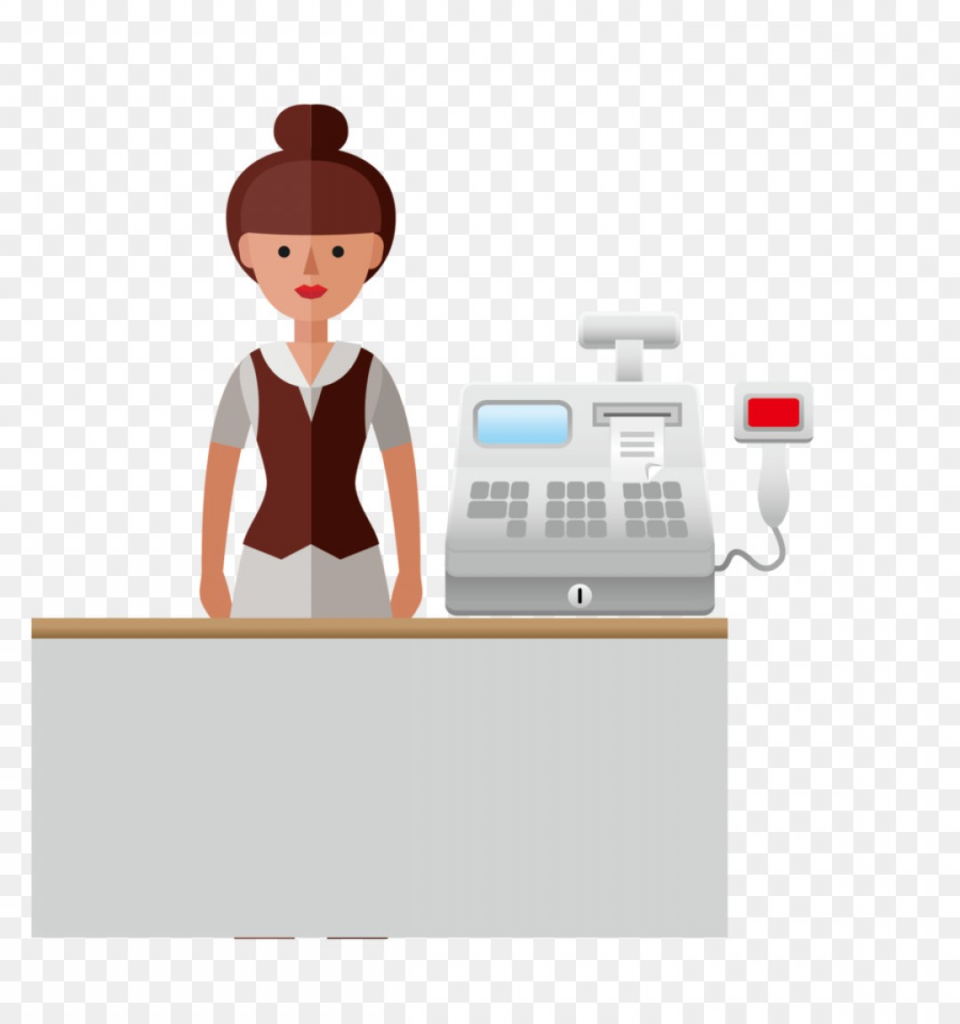 Salesman Vector: Png Cartoon Supermarket Vector Professional Women Supe