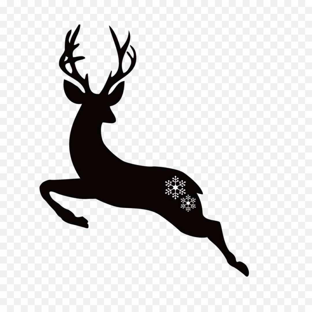 Kissing Reindeer Silhouette Vector: Png Deer Christmas Illustration Deer Silhouettes