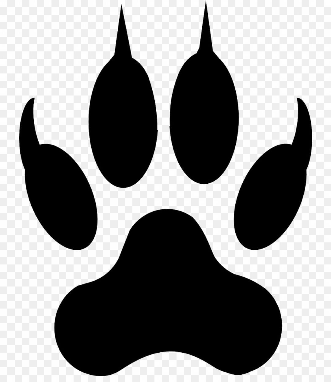 Vector Paw Decals: Png Dog Cat Paw Coyote Clip Art Paw Prints