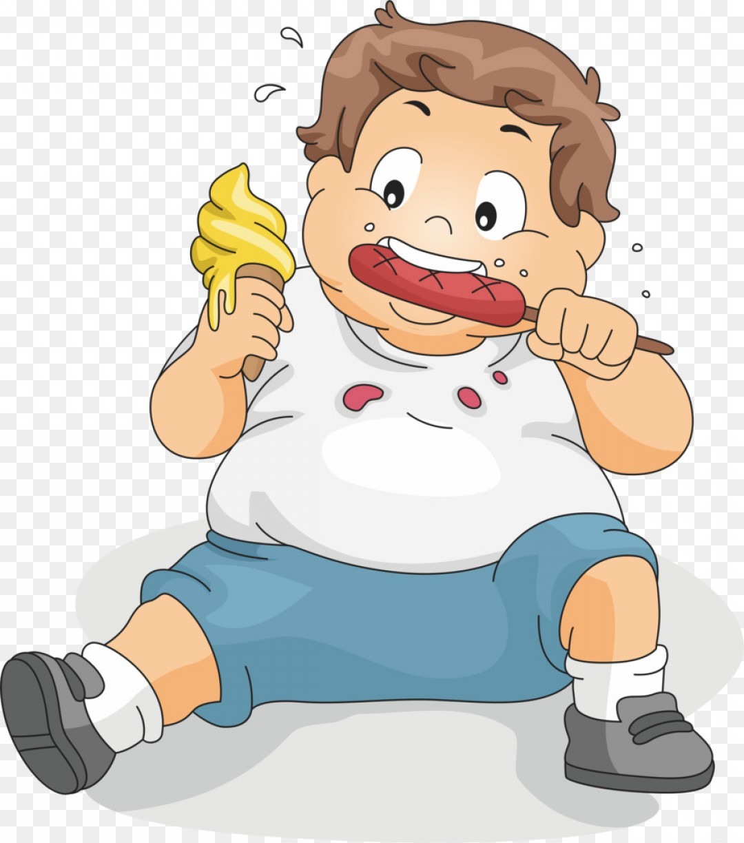 Fat Boy Logo Vector Art: Png Eating Boy Child Clip Art Sitting To Eat Fat Child