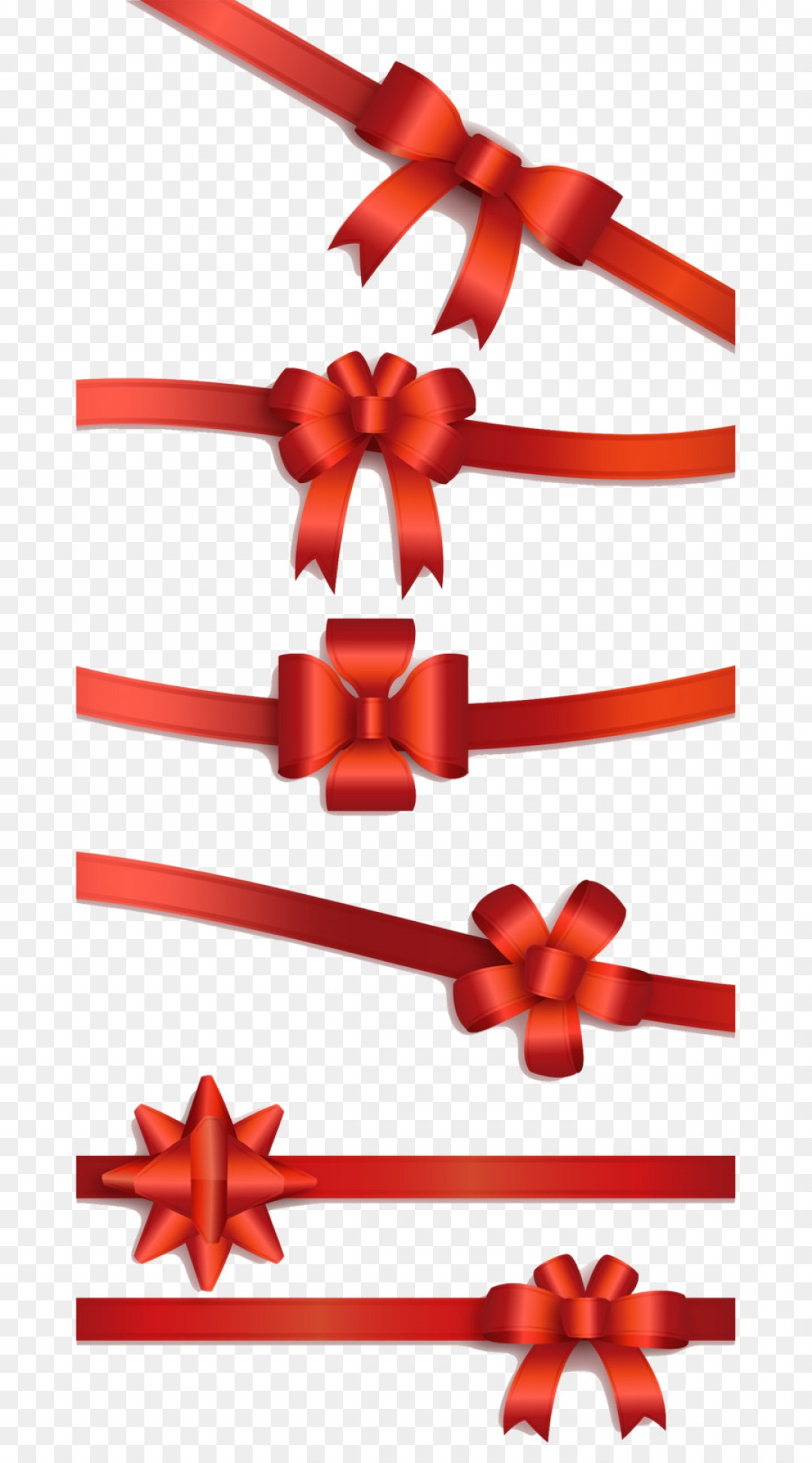Hair Bow Clip Art Vector: Png Euclidean Vector Download Red Ribbon Bow Vector