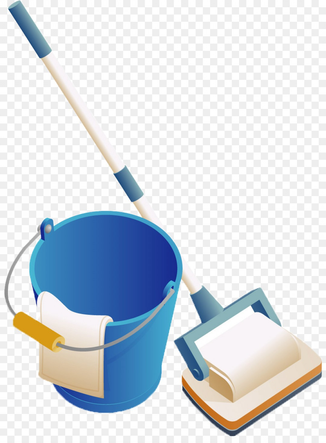 Vector Mop Flower: Png Euclidean Vector Mop Bucket Cart Cleanliness Blue