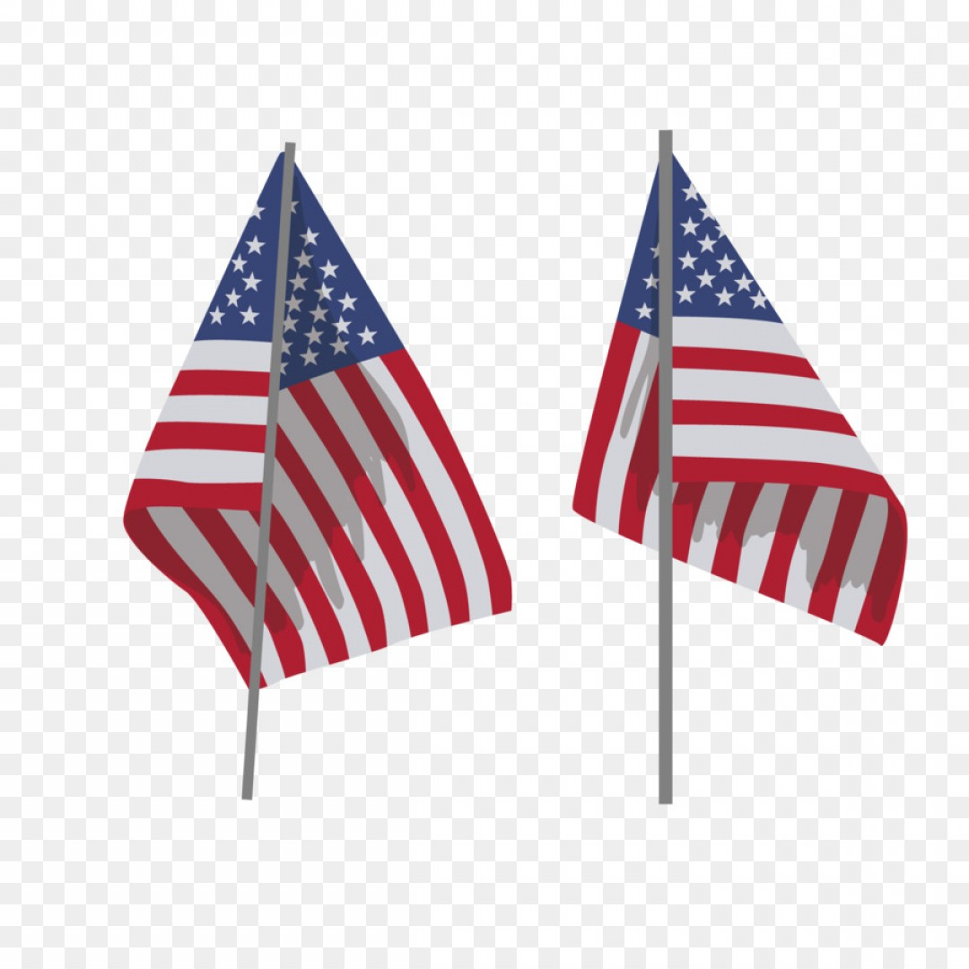 American Flag On Pole Vector: Png Flag Of The United States Flagpole Vector American