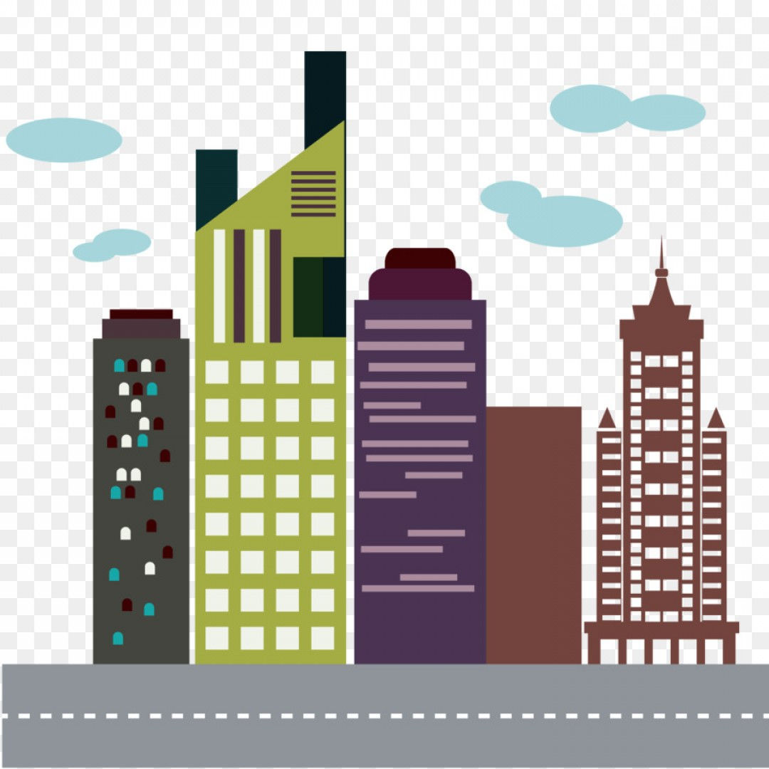 City Building Vector Free Download: Png Flatiron Building Skyline High Rise Building Vecto