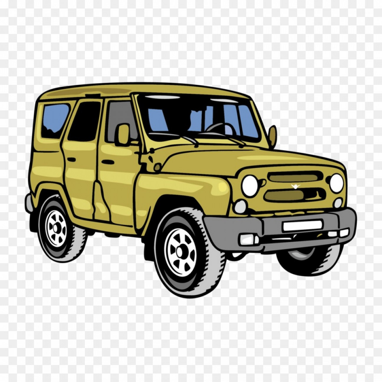 Vector Clip Art Of Jeep: Png Jeep Car Off Road Vehicle Green Jeep Vector Materi