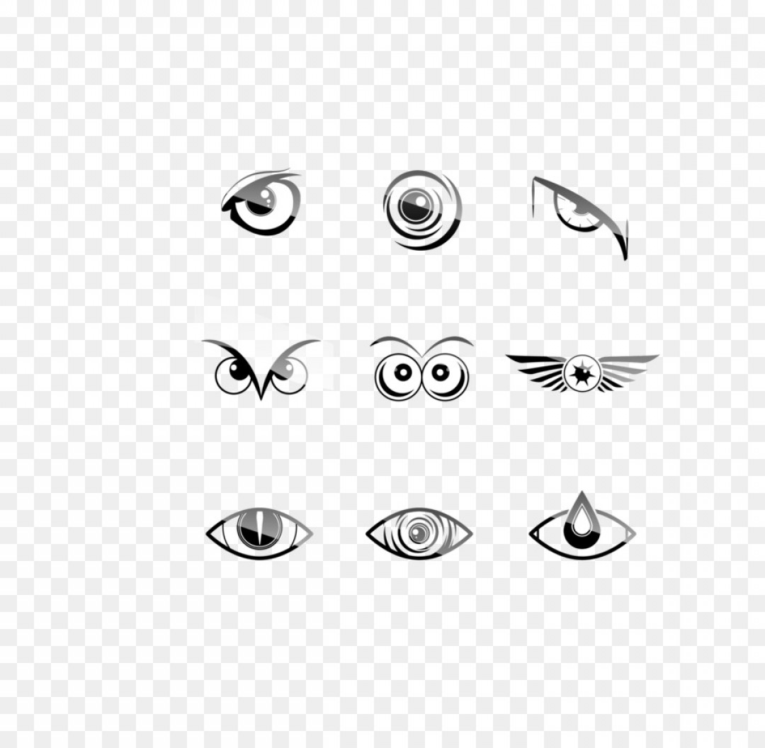 Eye Vector Logo: Png Logo Eye Vector Black Owl Eyes Nine