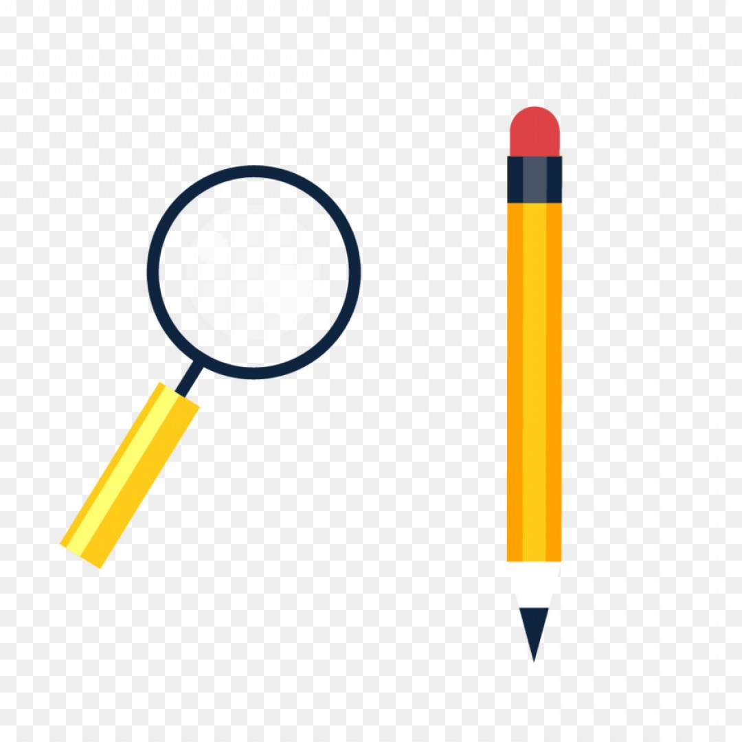 Broken Pencil Vector: Png Magnifying Glass Pencil Vector Pencil Magnifying G