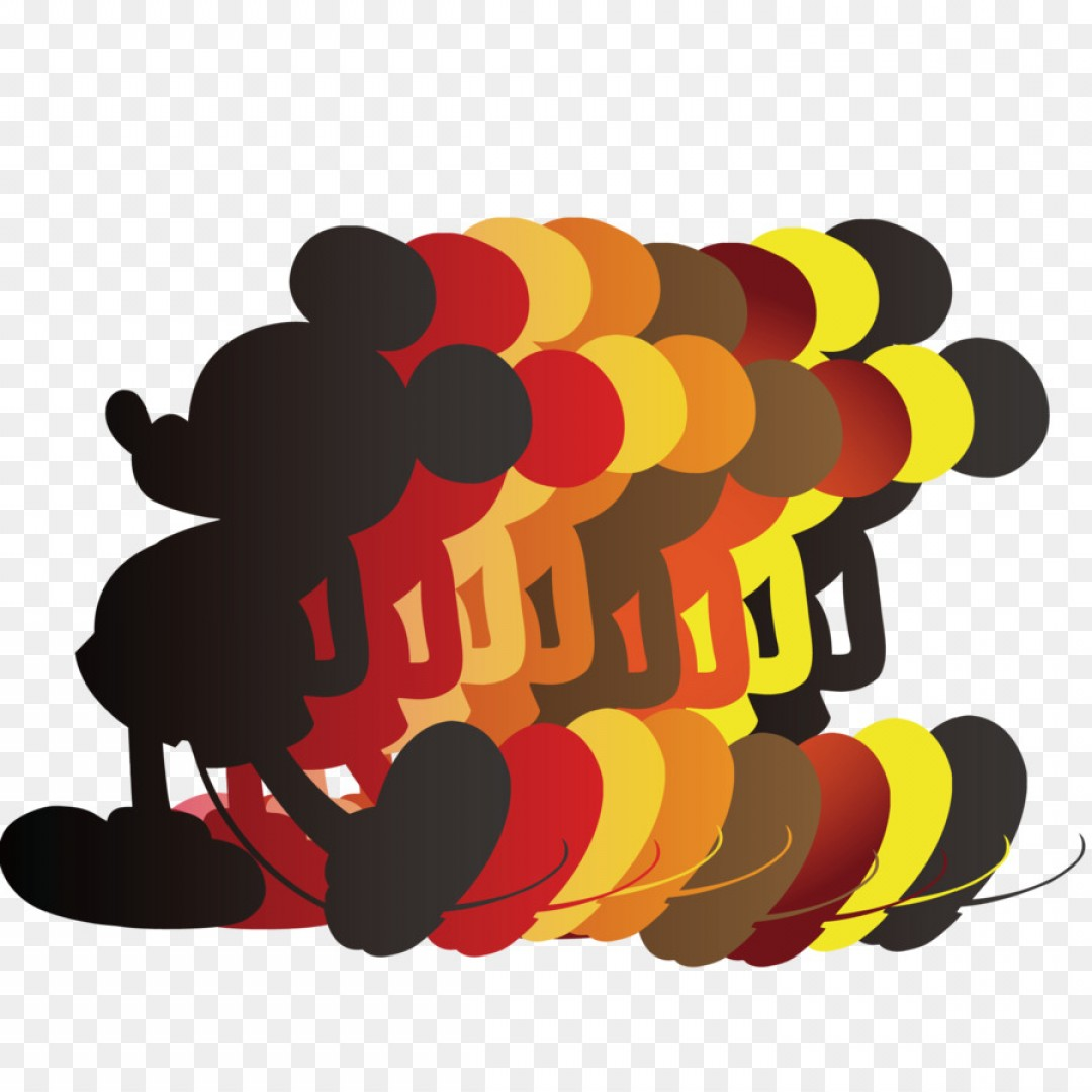 Mickey Vector: Png Mickey Mouse Adobe Illustrator Mickey Mouse Silhou