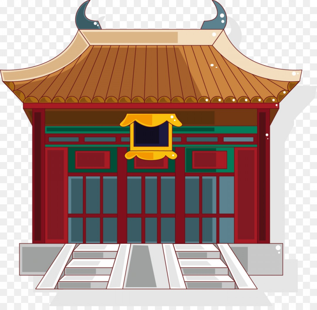 Shed PNG Vector: Png Miuebfu Cartoon Architecture Vector Red Palace
