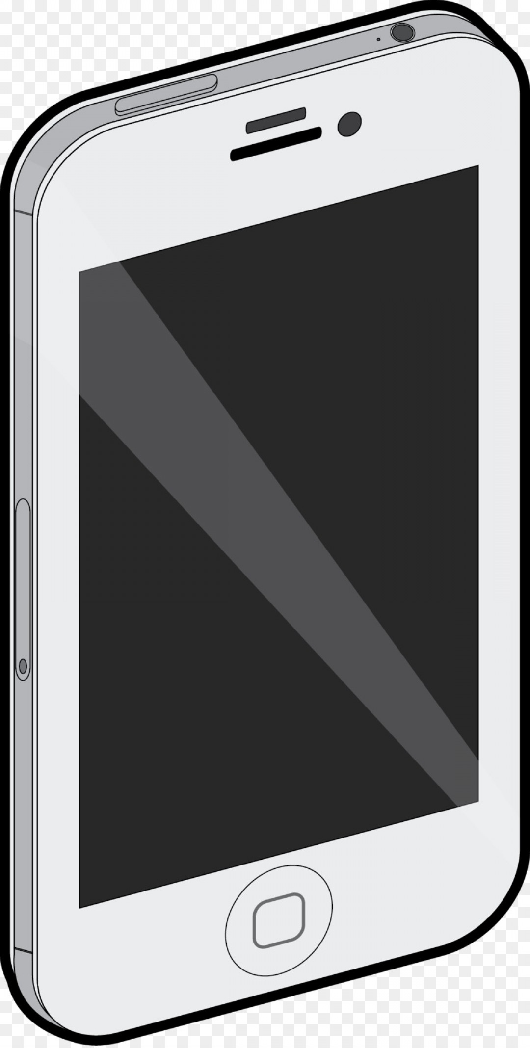 White IPhone Vector Png: Png Mobile Phones Handheld Devices Portable Communicat
