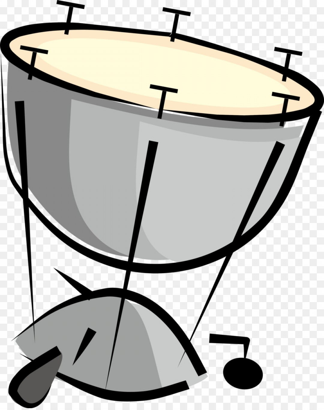 Drum Vector Art: Png Musical Instrument Drum Timpani Percussion Cartoon