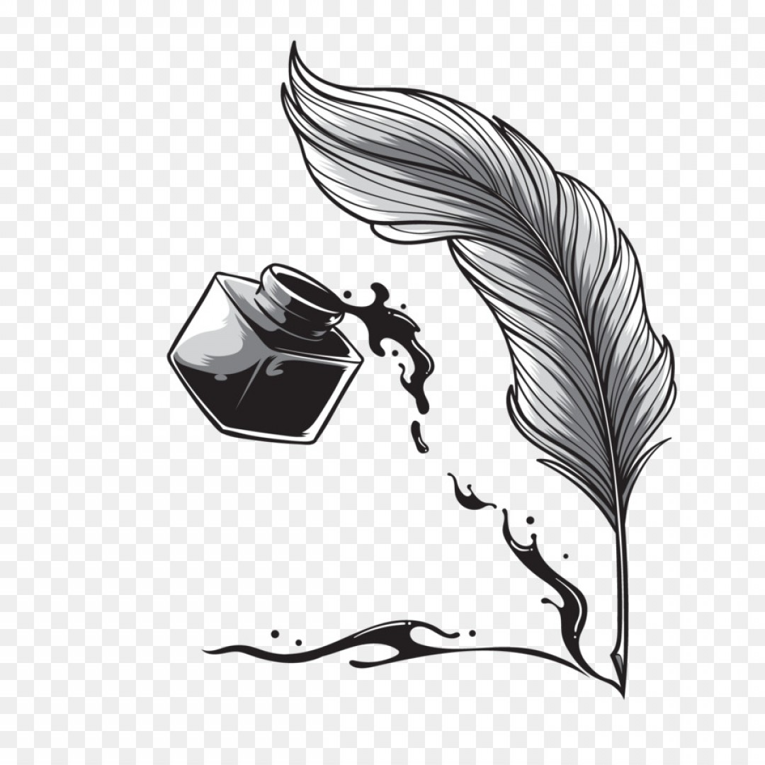 Quill Pen Vector: Png Pen Quill Calligraphy Drawing Vector Quill Pen