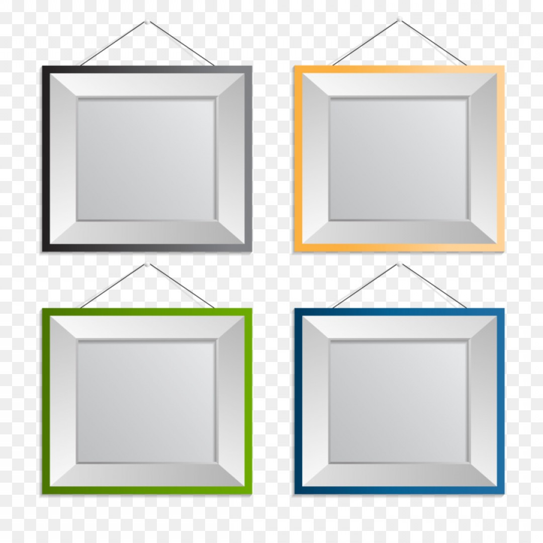 Square Gold Frame Vector PNG: Png Picture Frame Euclidean Vector Photography Vector