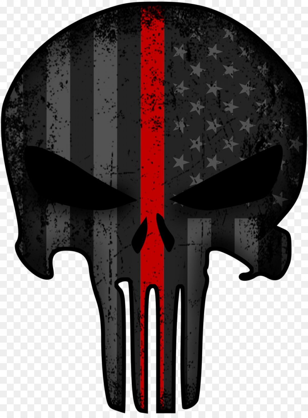 Thin Blue Line Skull Vector: Png Punisher United States Decal Sticker Red Line
