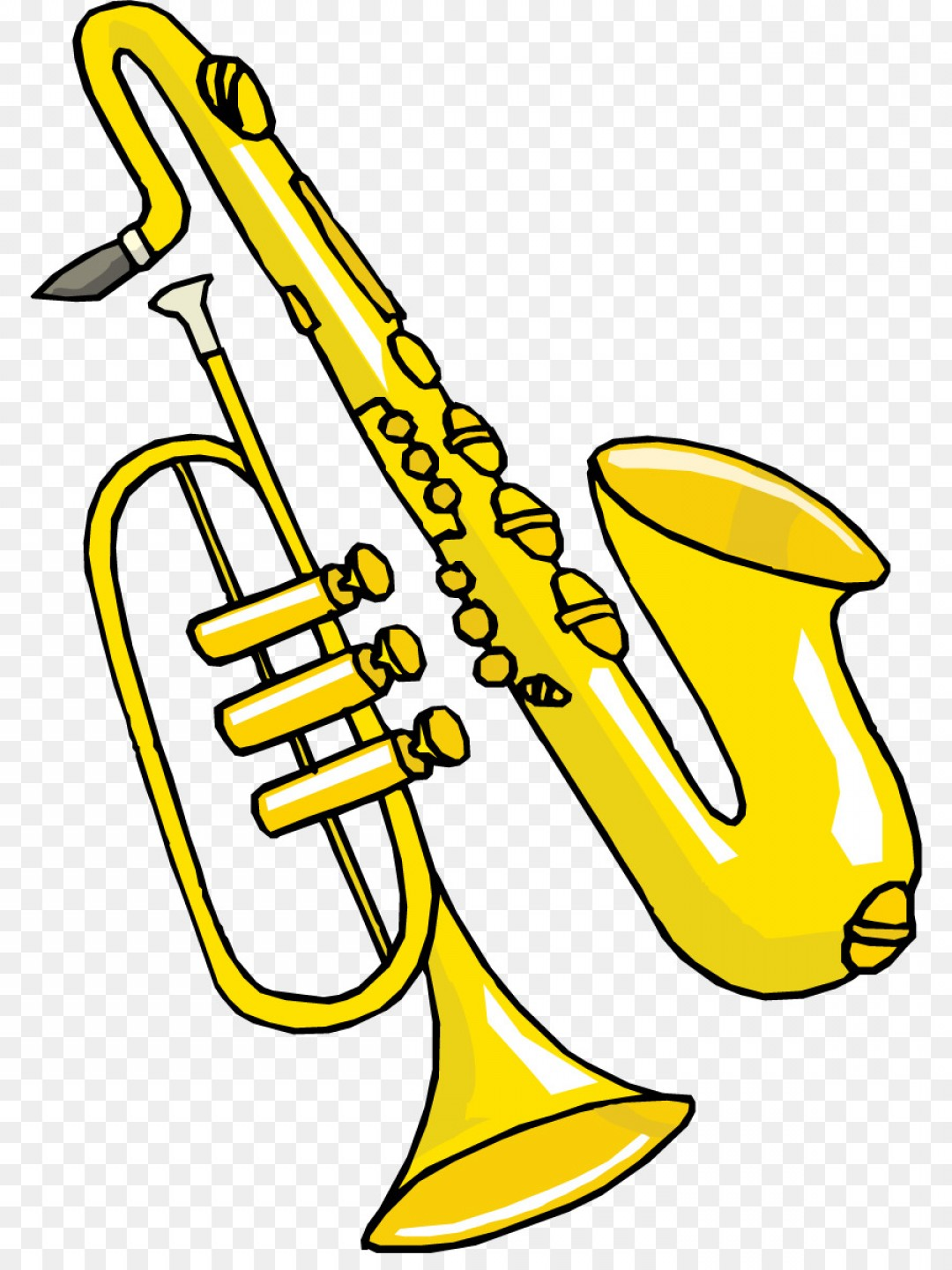 Alto Saxophone Vector Graphics: Png Saxophone Jazz Clip Art Cartoon Saxophone Vector