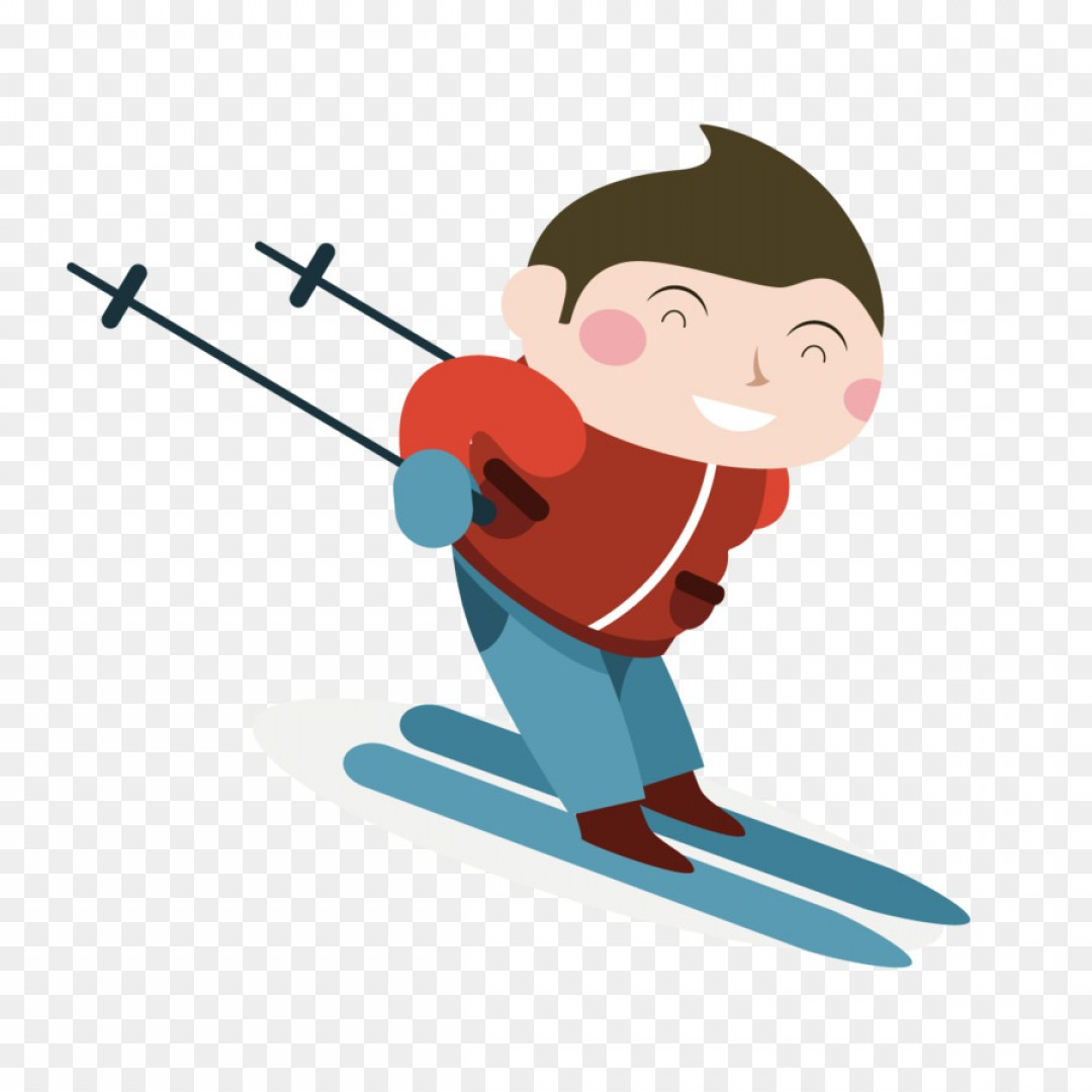 Transparent PNG Vector Skier: Png Skiing Child Vector Skiing