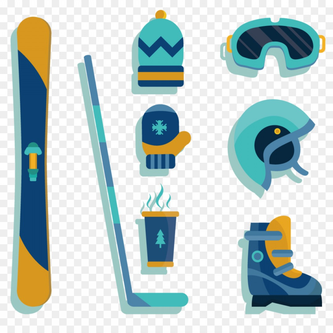 Transparent PNG Vector Skier: Png Skiing Euclidean Vector Graphic Design Elements In