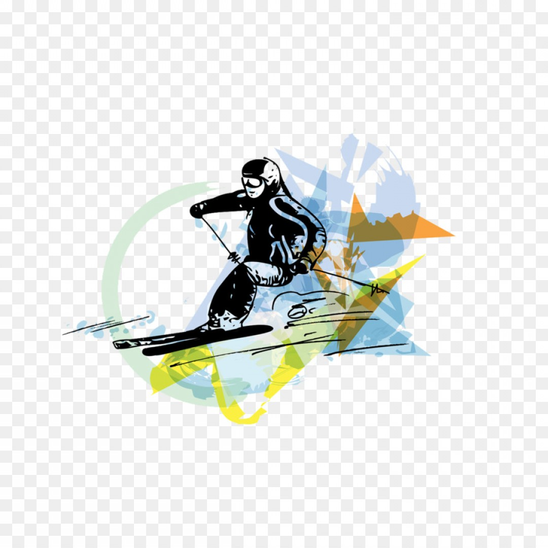 Transparent PNG Vector Skier: Png Skiing Sport Watercolor Painting Illustration Graf
