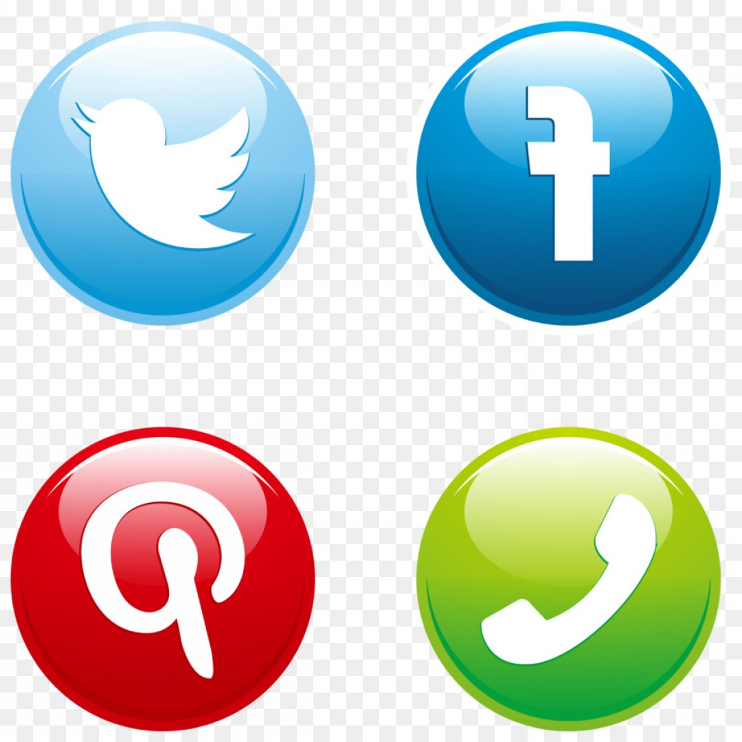 Button Icon Vector: Png Social Media Button Euclidean Vector Download Icon
