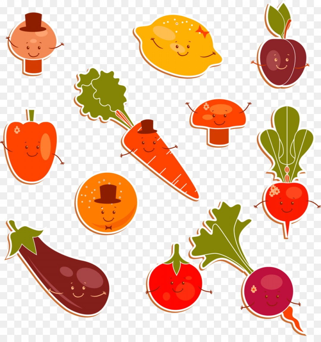 Vector Fruit Vegetable: Png Tomato Fruit Clip Art Vector Cute Vegetables Patte