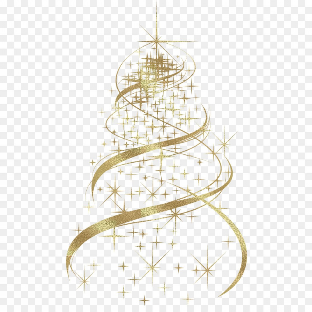 Christmas Tree Art Large Vector Format: Png Transparent Golden Christmas Tree Decoration Png Clipart